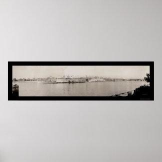 Albany NY Waterfront Photo 1909 Poster