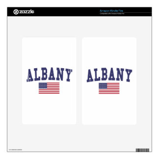 Albany OR US Flag Skin For Kindle Fire
