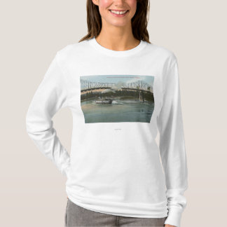 Albany, Oregon - Paddle Boat Crossing Willamette T-Shirt