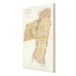 Albany, Rensselaer, Columbia counties Canvas Print