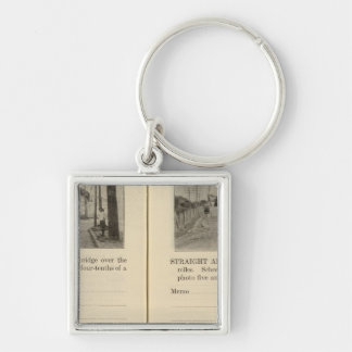 Albany Rensselaer East Greenbush Silver-Colored Square Keychain