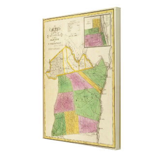 Albany, Schenectady counties Canvas Print