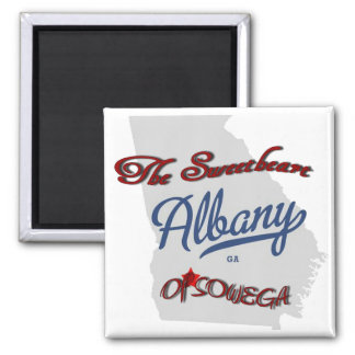 Albany - The Sweetheart of Sowega 2 Inch Square Magnet