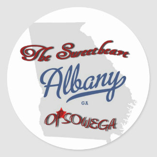 Albany ~ The Sweetheart of SOWEGA Classic Round Sticker