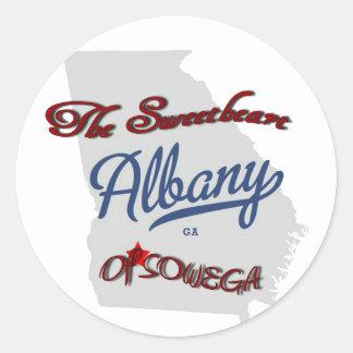 Albany The Sweetheart of SOWEGA Round Sticker