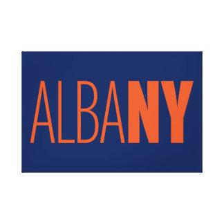 AlbaNY typographic canvas wrap (orange type)