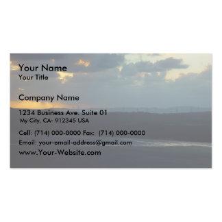 Albany Wind-Farm Against The Sunset, Western Austr Business Card Templates