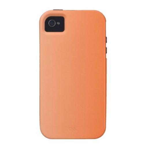 Albaricoque a la pendiente de la vertical del Tang iPhone 4 Carcasa