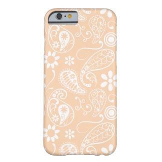 Albaricoque ligero Paisley; Floral Funda De iPhone 6 Barely There