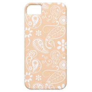 Albaricoque ligero Paisley; Floral iPhone 5 Fundas