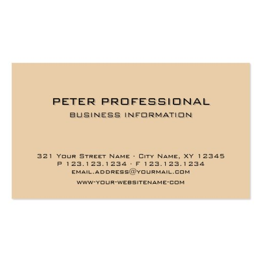 Albaricoque profesional moderno de la luz de la ta tarjeta personal