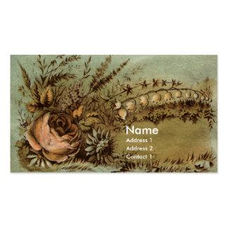 Albaricoque subió y Victorian del lirio de los Tarjetas De Visita