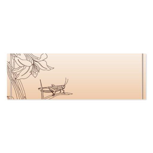 Albaricoque y flor enmarcada chocolate Placecard Tarjetas De Visita