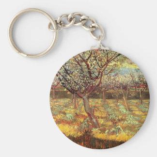 Albaricoqueros en flor de Van Gogh Llavero Redondo Tipo Pin