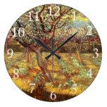 Albaricoqueros en flor de Van Gogh. Reloj