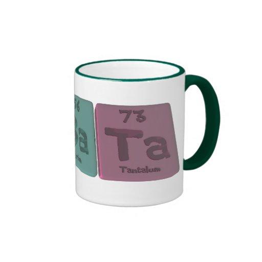 Albata-Al-Ba-Ta-Aluminium-Barium-Tantalum Coffee Mug
