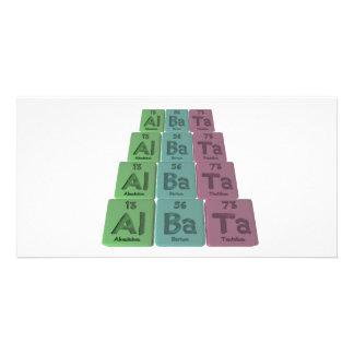 Albata-Al-Ba-Ta-Aluminium-Barium-Tantalum Photo Cards