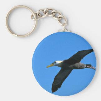 Albatros agitado en cielo llavero personalizado