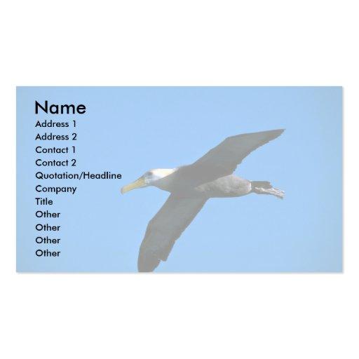 Albatros agitado en cielo tarjeta personal