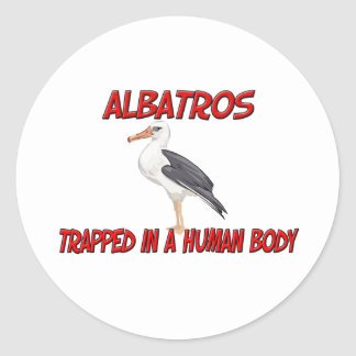 Albatros atrapó en un cuerpo humano pegatina redonda