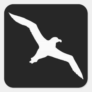 Albatros blanco pegatinas cuadradases personalizadas