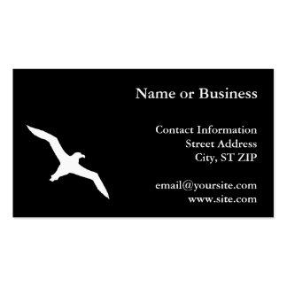 Albatros blanco plantillas de tarjeta de negocio