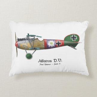 Albatros D.V. ww1 German Fighter Plane Bäumer Accent Pillow