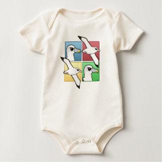 Albatros de cuatro colores body para bebé