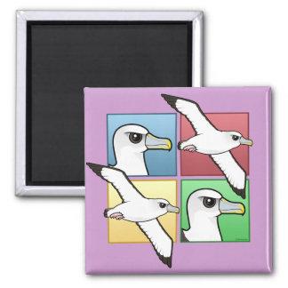 Albatros de cuatro colores iman de frigorífico