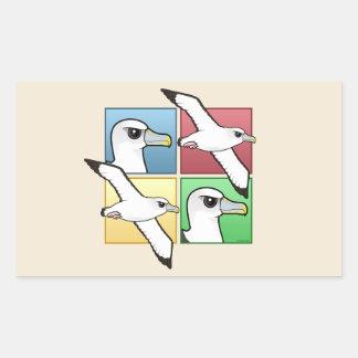 Albatros de cuatro colores pegatina rectangular