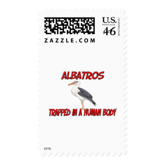 Albatros trapped in a human body stamps