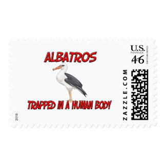 Albatros trapped in a human body postage