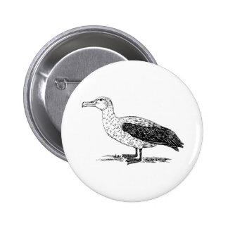 Albatross Bird Art Button