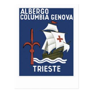Albergo Columbia Genoa ~ Trieste Postcard
