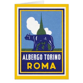 Albergo Torino Roma Tarjeta De Felicitación