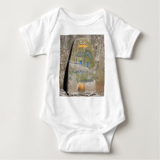 Albergue hostel sign, El Camino, Spain Baby Bodysuit