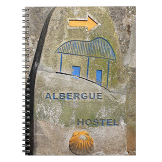 Albergue hostel sign, El Camino, Spain Notebook