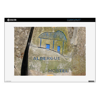 Albergue hostel sign, El Camino, Spain Skin For Laptop