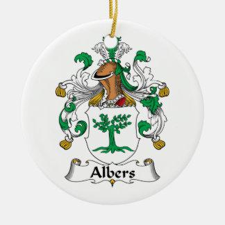 Albers Family Crest Ceramic Ornament