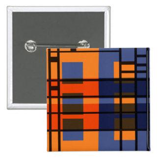 Albers & Mondrian Button