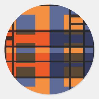 Albers y Mondrian Etiqueta Redonda