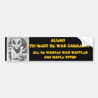Albert Alien Tee Bumper Sticker
