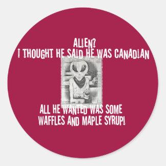 Albert Alien Tee Classic Round Sticker
