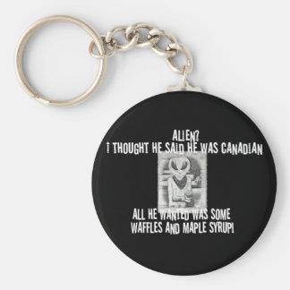 Albert Alien Tee Basic Round Button Keychain