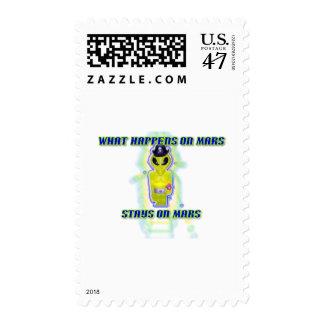 Albert Alien Tee Postage Stamp
