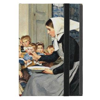 Albert Anker - el cuarto de niños (guardería) iPad Mini Protectores