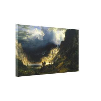 Albert Bierstadt - A Storm in the Rocky Mountains Canvas Print