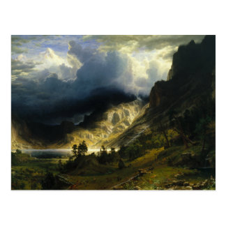 Albert Bierstadt - A Storm in the Rocky Mountains Postcard