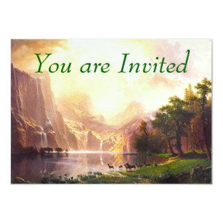 Albert Bierstadt Among the Sierra Nevada 4.5x6.25 Paper Invitation Card