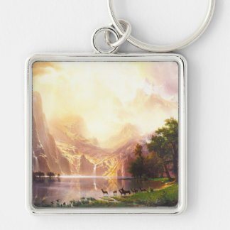 Albert Bierstadt Among the Sierra Nevada Keychain